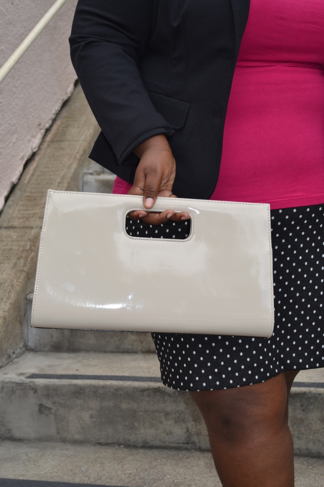 beige purse