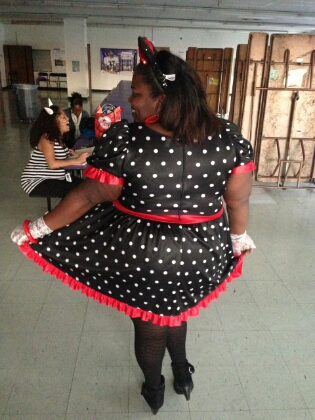 The back of Minnie's Dress